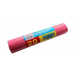 Worki na śmieci LDPE Czerwone 60l - 20szt