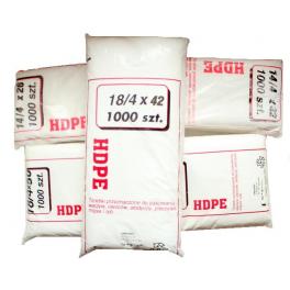 Torebki foliowe HDPE 18/4x42  1000szt